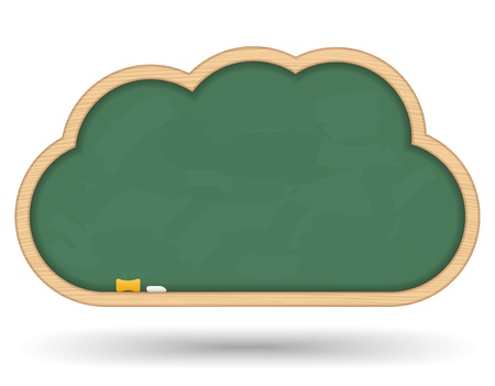 classroom chalkboard: Blackboard cloud Illustration
