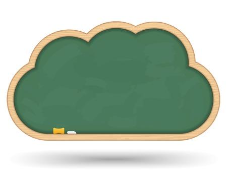 planche: Blackboard nuage Illustration