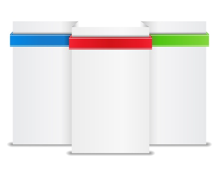 Blank paper banner with ribbon Vector