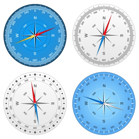 Different compasses Vector