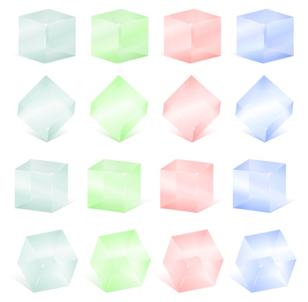Transparent glass cubes Stock Vector - 14129846