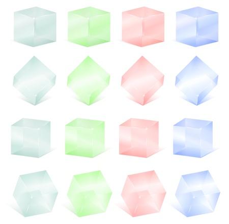 Transparent glass cubes Stock Vector - 14129846
