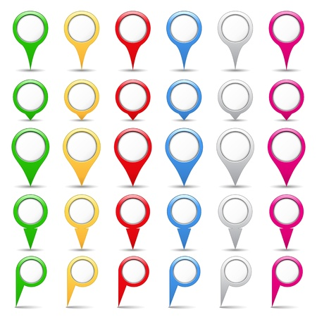 Map pins Vector