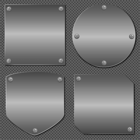 Metal boards Vector