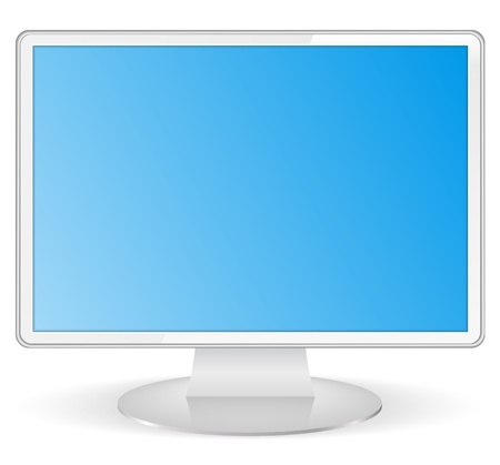White computer monitor Stock Vector - 14129820