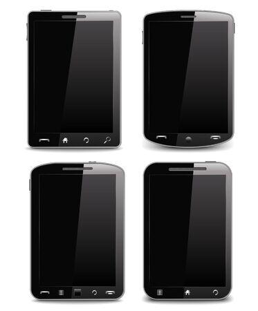 Black mobile phones Stock Vector - 14129844