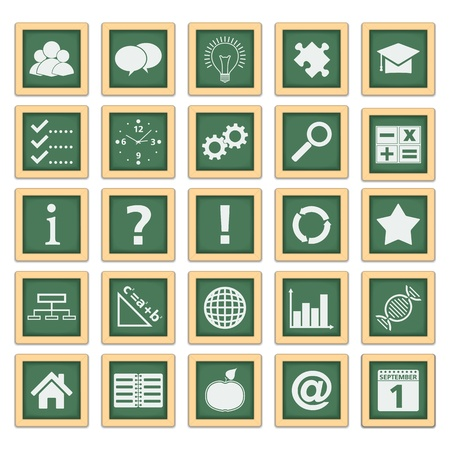 Education Icons Stock Vector - 14219729