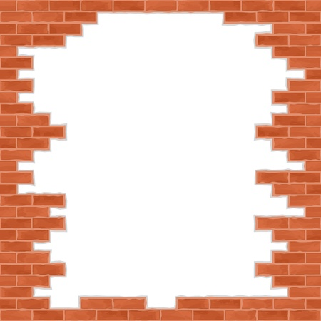 Broken brick wall Stock Vector - 14219720