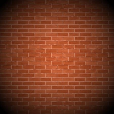 brick wall: Vintage brick wall Illustration
