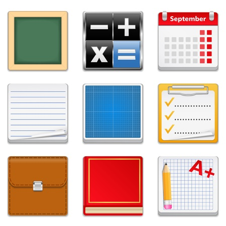 Education Icons Stock Vector - 14219723