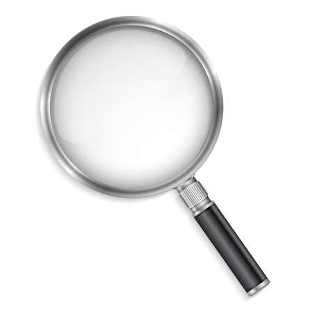 magnified: Magnifying glass Illustration