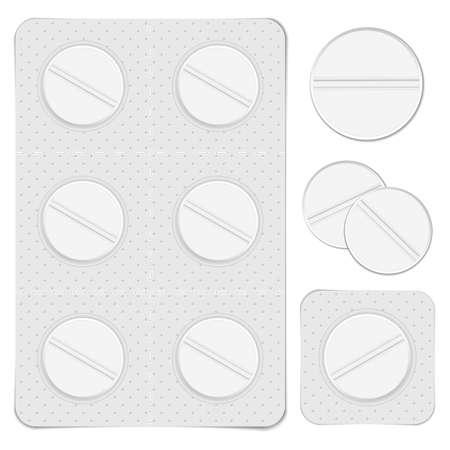 packs of pills: White pills