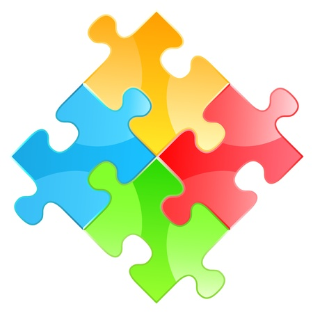 Puzzle square Stock Vector - 14400230