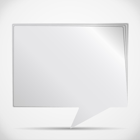 Paper Speech Bubble Stock Vector - 14400261