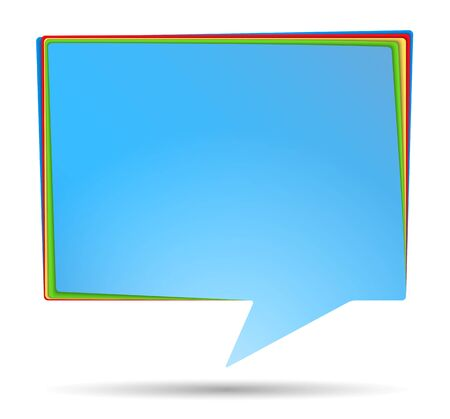 Abstract Speech Bubble Banner Vector