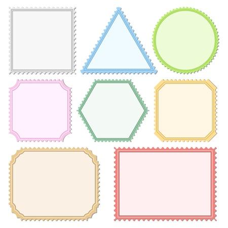 postage stamp: Color Postage Stamps Illustration