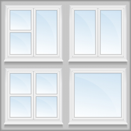 Windows with sills Vector