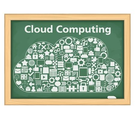 Cloud computing concept Stock Vector - 14460123