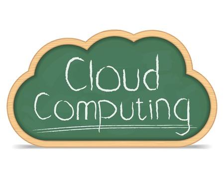 Cloud computing concept Stock Vector - 14460120