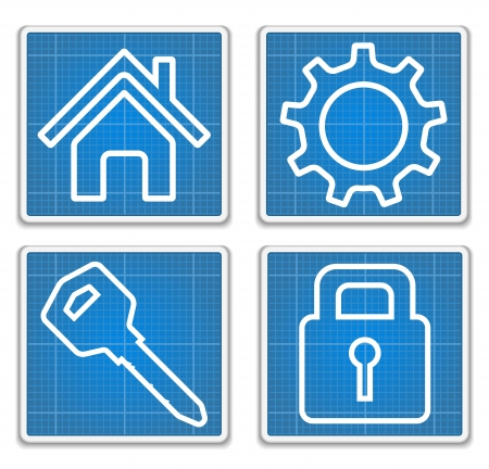 housing project: Blueprint Icons