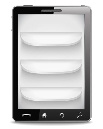 Mobile phone with shelves Stock Vector - 14460132