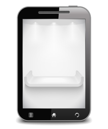 Mobile phone with shelf on the screen Stock Vector - 14460133