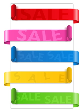 Sale ribbons Vector