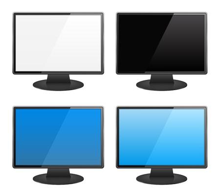 Computer monitors Stock Vector - 14557246