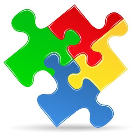 puzzle piece: Puzzle icono pieza Vectores