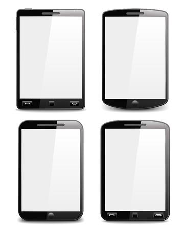 Modern black smart phones Stock Vector - 14557263