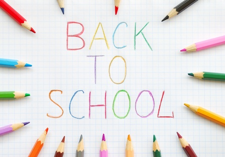 green back: Back to School Stock Photo