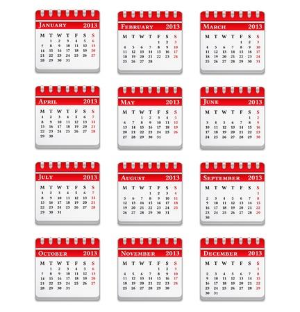 2013 Calendar Stock Vector - 14637173