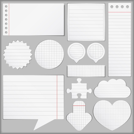 Paper Objects Set Vector