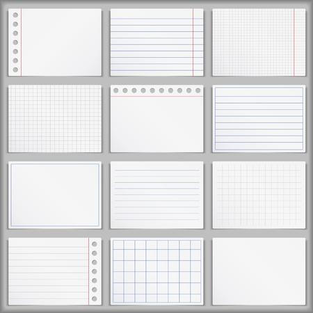 white back: Blank Paper Illustration