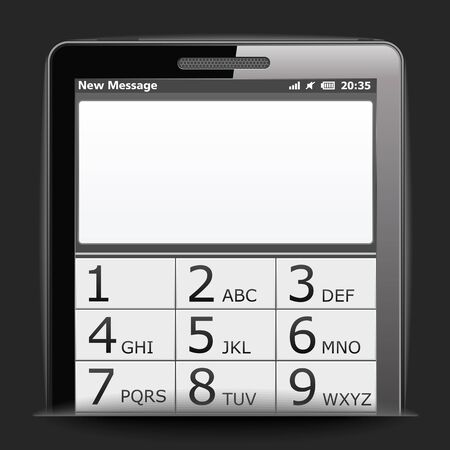 Mobile phone with blank space for your message Vector