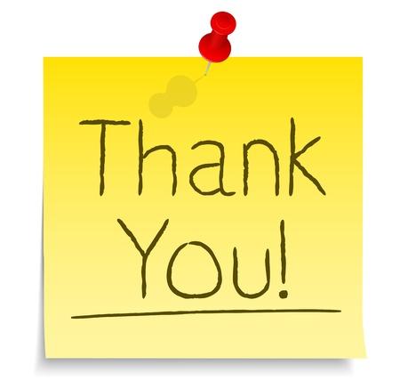 gratitudine: Grazie post-it Vettoriali