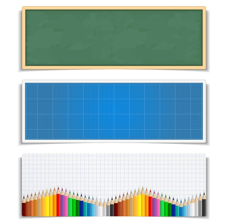 school border: Education banners
