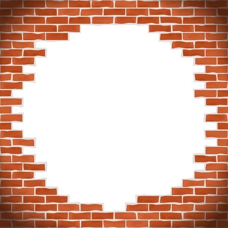 Broken brick wall Stock Vector - 14813446