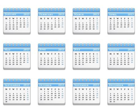 2013 Calendar Stock Vector - 14813454