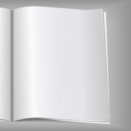 Close-up di pagina vuota rivista,