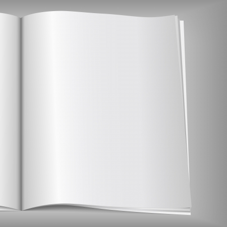 open magazine: Close-up of blank magazine page, Illustration