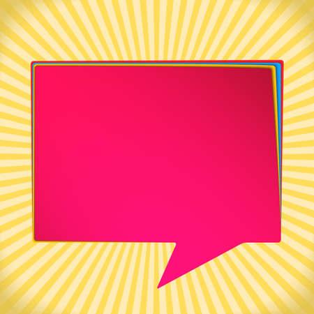 speak bubble: Background with speech bubble