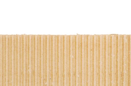 Cardboard isolated on white background photo