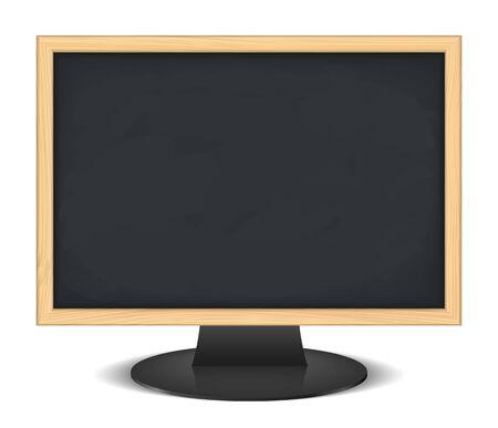 Computer monitor with blackboard instead of screen Vector