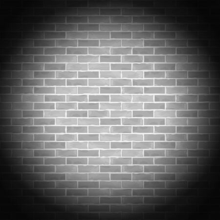 Vintage gray brick wall Stock Vector - 14897748