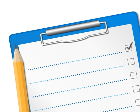 the list plan: Clipboard with check list
