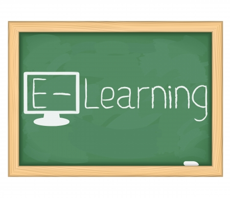 learning computer: E-Learning concept