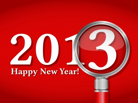 Happy new year card Stock Vector - 14897718