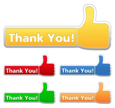 gratitudine: Grazie etichette
