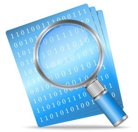 antivirus: Search file icon Illustration